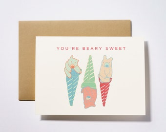 You're Beary Sweet Valentine's Day Greeting Card