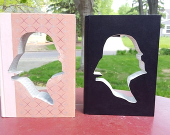 Upcycled Book Decor - Pink Darth Vader