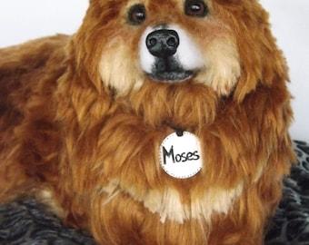 Custom Chow Australian Shepherd mix Artist Needle Felted Dog Sculpture Dog memory Portrait Sculpture of your pet replica stuffed dog