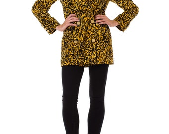 1990s Gianni Versace Couture Leopard Blazer, Size: S