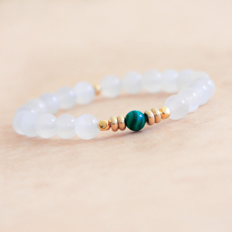 moonstone bracelet wrist mala mala bracelet