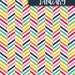 Monthly Binder Covers and Spine Labels - Colorful - Herringbone
