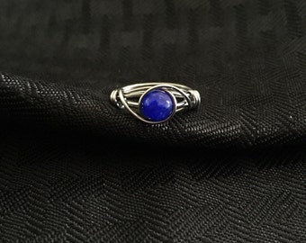 Sapphire Wire Wrapped Ring
