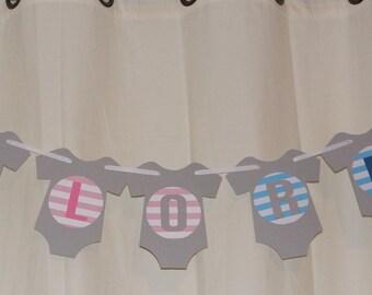 Gender Reveal party banner