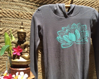 Indian Lotus Hoodie - Charcoal