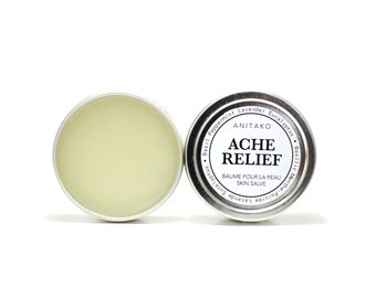 ACHE RELIEF - Pain Reliever, Comfort Balm, Tiger Balm, Therapeutic Essential Oil Blend of Basil, Peppermint, Lavender & Eucalyptus