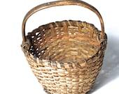 19thC New England Splint Berry Basket