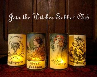 WITCHES SABBAT CLUB: Parchment, altar, ritual, apothecary, Sabbats, Yule, Ostara, Litha, Imbolc, Samhain, Mabon, Lughnasadh, Beltane