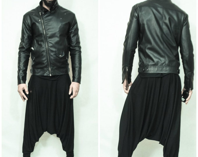 Dropped Crotch Draped Pant Mens Womens