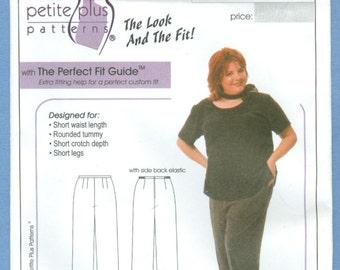 2002 Flat Front Pant Size 14,16,18,20 - Petite Plus Patterns Sewing Pattern 601