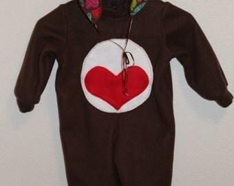 Care Bear Tenderheart - Medium Fits 3T or 4T - Toddler - Carebear costume Heart bear Pretend play Care Bears Birthday party Kids costume