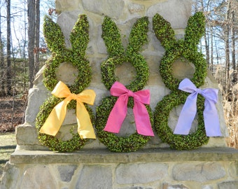 Bunny Wreath - Free Shipping - Easter Wreath - Large Spring Wreath -Choose Bow