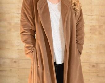 Vintage Malt Brown Trench Dress Coat //size S-M