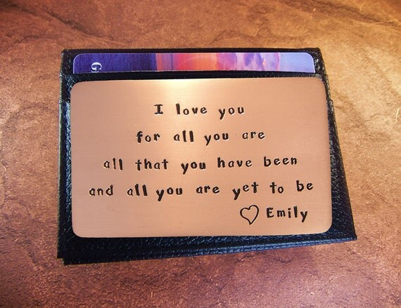Personalizedbirthday gift boyfriend card rustic copper for Personalized gifts for boyfriend birthday