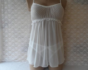 Bridal Set of White Lace Cami and Panty
