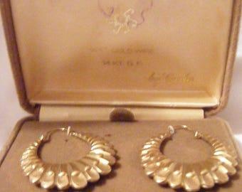 Large Gold Hoop Earrings by Carla