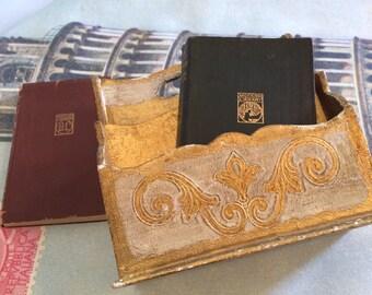 SALE ****Beautiful Vintage Italian Florentine Letter Holder Mid Century