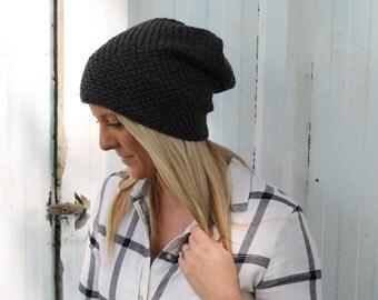 Slouchy Beanie /  Crochet Trendy Beanie /  Winter Hat / Slouchy Stocking Hat