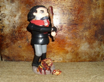 "Custom Nutcracker Negan with ""Lucille"" The Walking Dead Wood"
