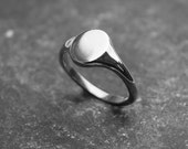 Oval Signet Ring. Lady's, Sterling Silver signet ring.