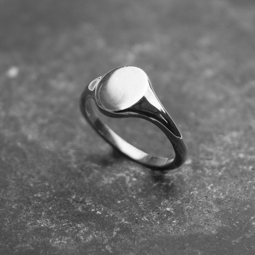 oval signet ring s sterling silver signet ring