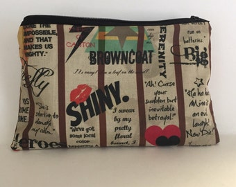 Firefly/ Browncoats zipper pouch/ make up bag/ pen pouch/ travel bag