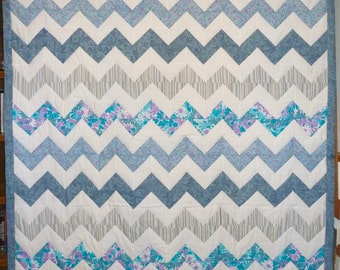 Chevron Double Bed Quilt