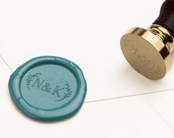 Monogram Wax Seal Stamp, Initials Wax Stamp, Wedding Wax Seal, RSVP Envelope Seal, Wedding Invitations Wax Seal, Wedding Stamp (WMONO102)