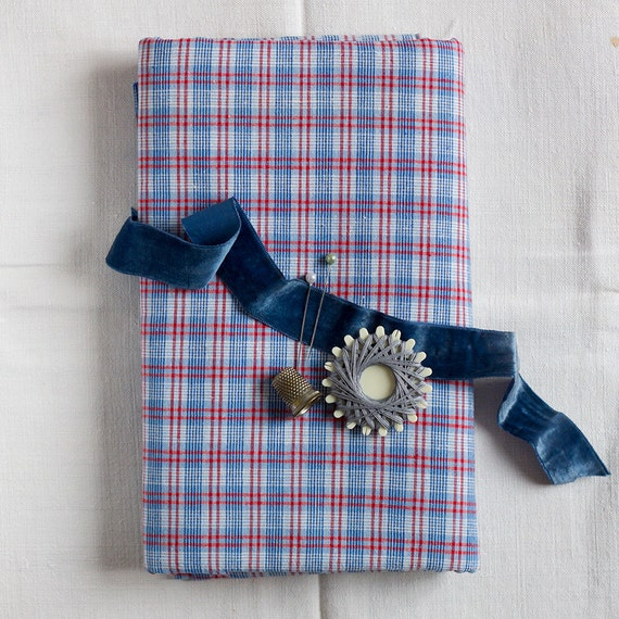 Vintage Woven Plaid Cotton Yardage