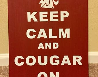 Coug Canvas Sign
