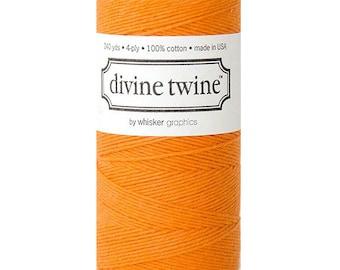 10m Orange Divine Twine Packaging Yarn String Bakers Twine