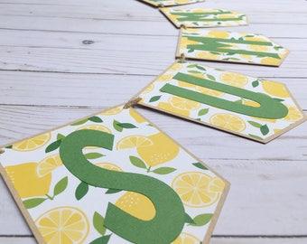 Summer Banner • Lemon Banner • Lemon Party Decor • Lemonade Party Banner • Lemon Smash Cake Banner • Summer Party Banner • Lemon Theme Sign