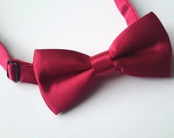 Boys Burgundy Bow Tie, Bow ties for Boys, Boys Double Bow tie, 6-12 Years