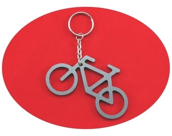 Silver Bicycle Lucky Charm Bag Dangler Key Ring Party Favour Favor Cycle Bike