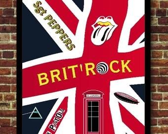 Brit' Rock music Poster poster vintage decoration