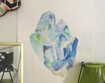 Crystal Watercolor Painting
