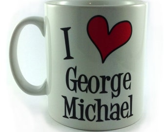 New I Love George Michael Mug Cup 11oz Tribute Remember Rest In Peace RIP Music Fan Lover Gift Present Memorabilia