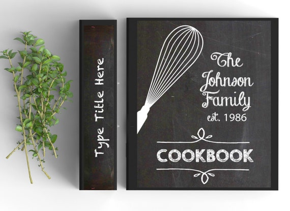 Chalkboard Cookbook Cover : Chalkboard recipe book editable and printable pages