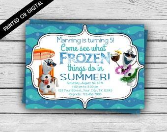 OLAF BIRTHDAY INVITATION-Come See What Frozen Things Do In Summer,  Frozen Birthday Invitation, Girl Birthday, Boy Birthday, Party