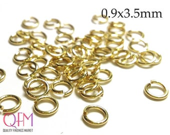 WHOLESALE Gold Filled Jump Rings 19 Gauge 0.9 x 3.5mm