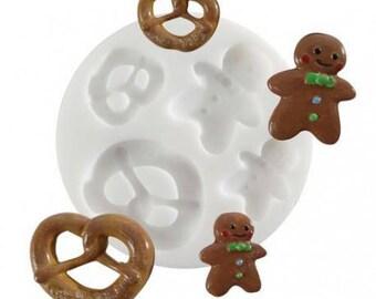 Mini Mold Silicone gingerbread