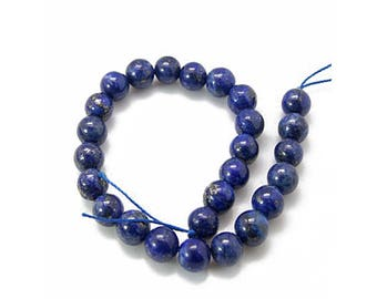 45 lapis lazuli beads natural round 4mm