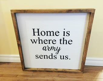 Army Sends Us Wall Sign