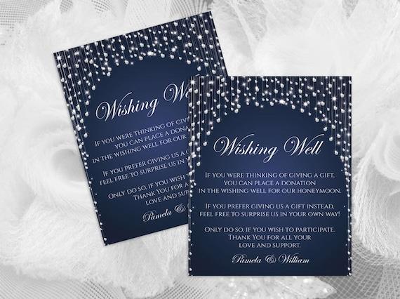 DIY Printable Wedding Wishing Well Template Editable MS Word