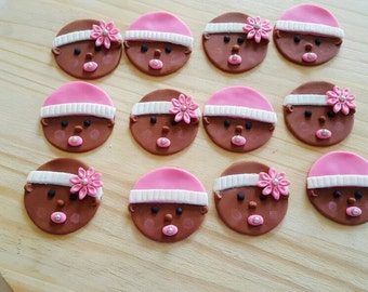 Fondant Baby Cupcake Toppers