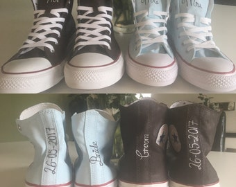 Custom! 2 Pairs of painted wedding shoes, made to order