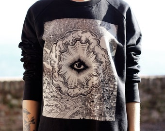 unisex sweatshirt, Eye of Providence, men's sweater, ALL SEEING EYE, unisex jumper, illuminati, steampunk clothing, occult man's clothing