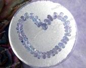 37 Tanzanite Beads, Very Small 2.5mm Faceted Tanzanite Rondelle Beads, Gemstone Beads, Semi Precious Stone Beads GEM-020-1