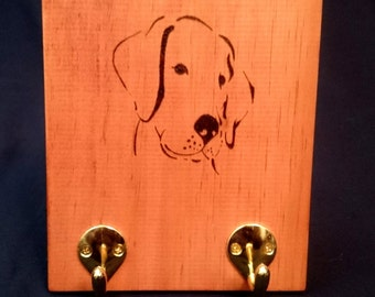 Labrador leash/coat hook