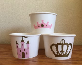 Princess Party Snack Cups, Princess Birthday, Royal Birthday Party, Royal Party